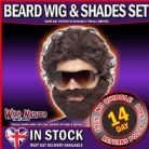 FANCY DRESS ACCESSORY # ADULT STAG DO BEARD WIG & SHADES KIT